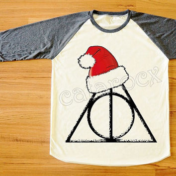 Merry Christmas Deathly Hallows Shirt Harry Potter Shirt Merry Christmas Shirt Long Sleeve Shirt Women Shirt Unisex Shirt Baseball Tee S,M,L