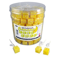 Cube Lollipops - Banana: 100-Piece Tub