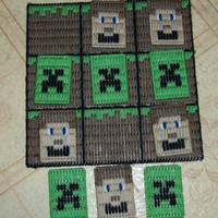 Minecraft Inspired Tic Tac Toe Game