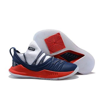 Under Armour Sc30 Stephen Curry 5 Low Navy/red Basketball Shoe | Best Deal Online