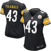 Women's Pittsburgh Steelers Troy Polamalu Nike Black Limited Jersey