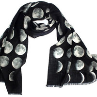 Moon Phase Scarf. PRE SALE