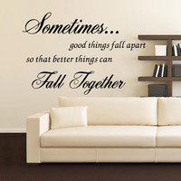 """Characters """"Sometimes good"""" Wall Sticker Living Room Removable stickers home decor decoracion vinyl Black 57*78CM SM6"""