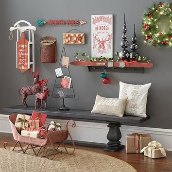 Martha Stewart Living™ North Pole Wall Decor - North Pole Sign - Christmas Signs - Christmas Wall Decor | HomeDecorators.com