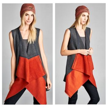 Colorblock Fleece Vest