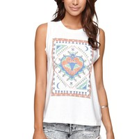 Billabong Abode Moon Music Tank - Womens Tee - White -
