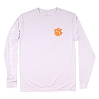Clemson Gameday Long Sleeve Performance Tee in Harpoon by Southern Tide