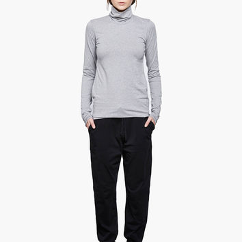 Grey Marle Turtle Neck Top