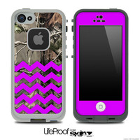 The Purple Chevron Pattern and Real Camo Skin for the iPhone 4 or 5 LifeProof Case