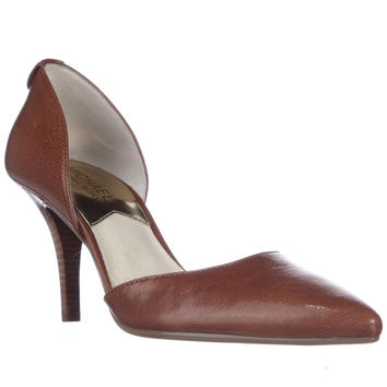 MICHAEL Michael Kors Wendy D'Orsay Pointed Toe Heels - Tan