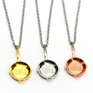 Gold Pubg Frying Pan Necklace PlayerUnknown's Battlegrounds