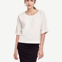 Relaxed Boatneck Top | Ann Taylor