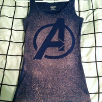 Avengers Logo Bleach Shirt