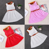Baby Girls Princess Lace Floral Summer Dress Sleeveless Dress Kids Dress Skirts = 1946317252