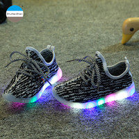 2017 Fashion LED light shoes 1 to 12 years old baby boys and girls sports shoes children casual shoes kids sneakers high quality