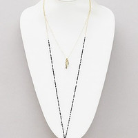'The Bohemian' Druzy Long Layered Necklace