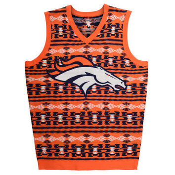 "Denver Broncos Official NFL Men's ""Aztec"" Vest by Klew"