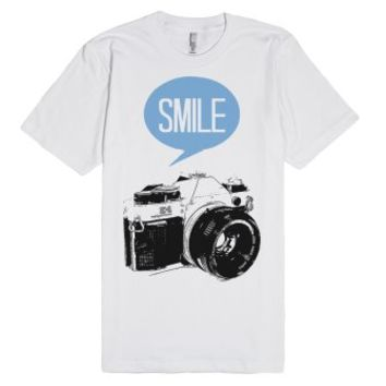 Smile-Unisex White T-Shirt