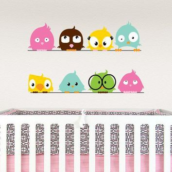 Fun birds on a wire vinyl wall decal by CUTitOUTdesign on Etsy