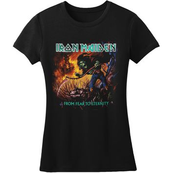Iron Maiden  Fear To Eternity Album Junior Top Black