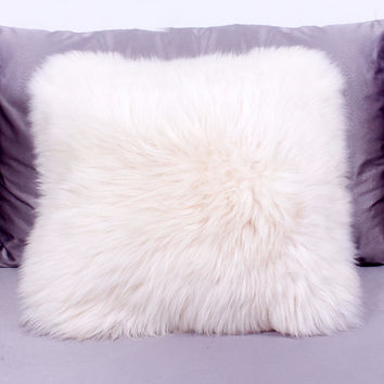 100%woor fur Pillow Pillow Cushion Soft Relax Creative Gift Wool pillows