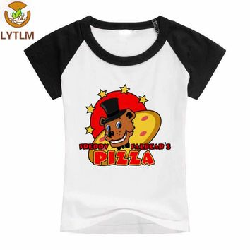 LYTLM Baby Boy Summer Clothes Freddy Pizza Printed Kids T-shirts  At Freddy Boys T Shirt vetement fille Tee Shirt ans
