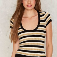 Nasty Gal Come Round Striped Tee