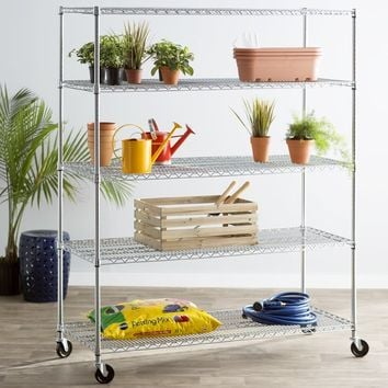 Wayfair Basics 5 Shelf XL Wire Shelving Unit