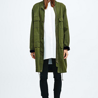 BDG Parka Jacket in Khaki - Urban Outfitters