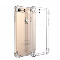 Crystal Clear Soft TPU Case For iPhone 7 iPhone7 4.7inch Luxury Classic Slim Transparent Phone Cover Capa