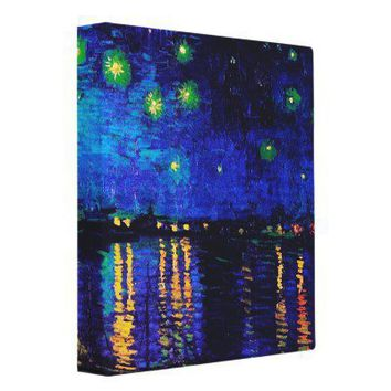 Van Gogh Starry Night over the Rhone Binder from Zazzle.com