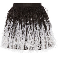 Alice + Olivia - Lauryn feather-embellished tulle mini skirt