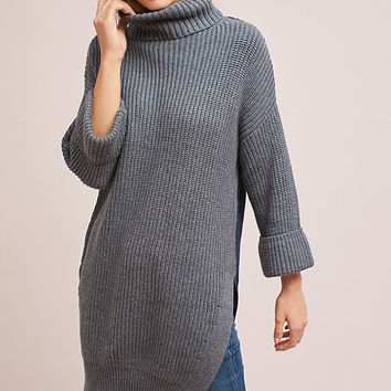 Cuffed-Sleeve Turtleneck Tunic