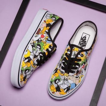 VANS X Peanuts Bugs Bunny Canvas Old Skool Flats Shoes Sneakers Sport Shoes