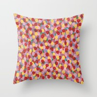 Summer Flowers Throw Pillow by Kat Mun | Society6