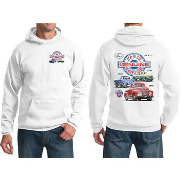 Ford Pickup Trucks Hoodie Front and Back