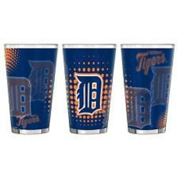 Detroit Tigers 16oz Halftone Sublimated Pint Glass