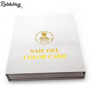 Rolabling Nail Salon Accessory 120 blank book for nails art display wood chip inside nail gel color card nail color chart