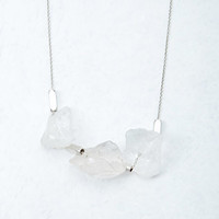 Longline Faux Stone Necklace
