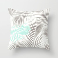 Tropical Palms  Throw Pillow by Sunkissed Laughter