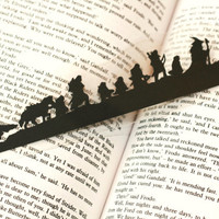 The Lord of the Rings: The Fellowship of the Ring - Hand-cut Silhouette Bookmark, Lord of the Rings Bookmark, Tolkien Art