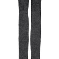 Pointelle Knit Over-the-Knee Socks