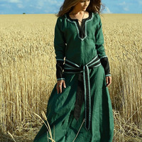 "Medieval Lady Tunic ""Green Fairy"""