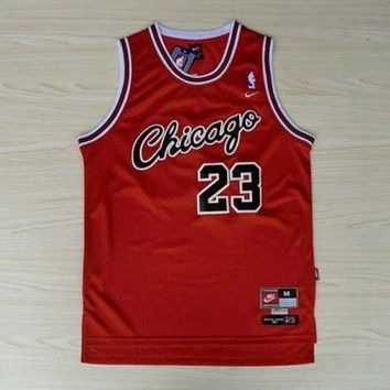UCANUJ3V VTG Jordan Chicago Bulls #23 Nike Sewn NBA Basketball Jersey Red