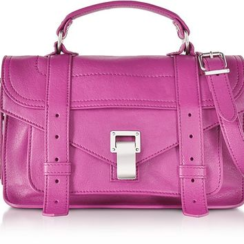 Proenza Schouler PS1 Tiny Berry Lux Leather Satchel Bag