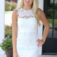 Life of Luxury Lace Dress - Ivory