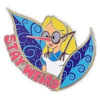 Disney Parks Alice in Wonderland Stay Weird Pin New with Card