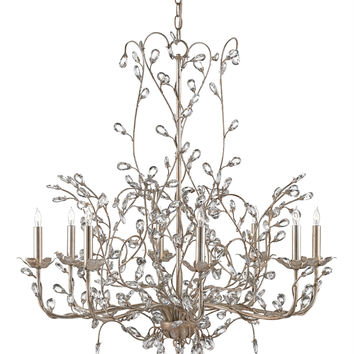 Currey Company Crystal Bud Chandelier, Large
