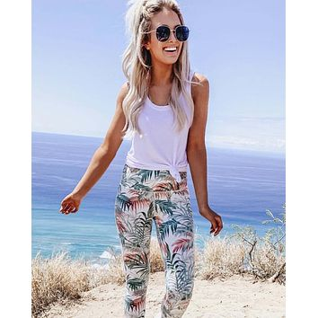 Sporty Gym Leggings in Palm