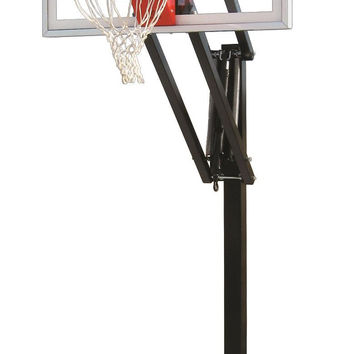 First Team Vector III In Ground Outdoor Adjustable Basketball Hoop 54 inch Acrylic
